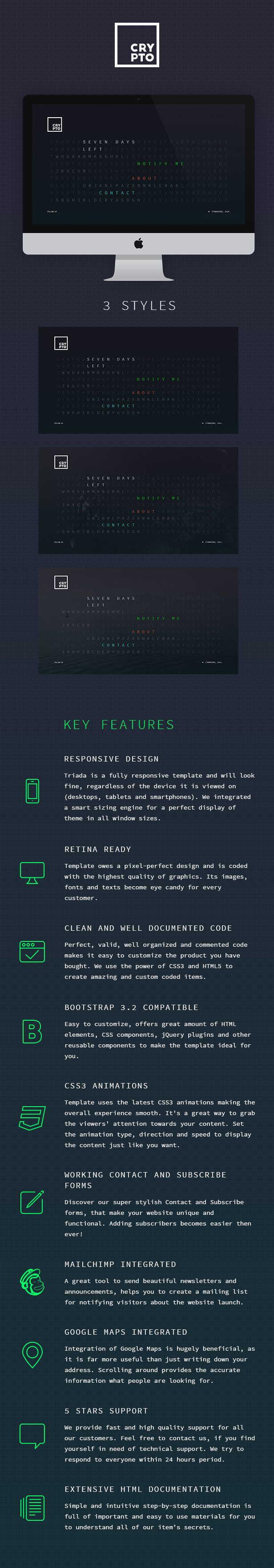 Crypto – Conceptual & Minimal Coming Soon Template