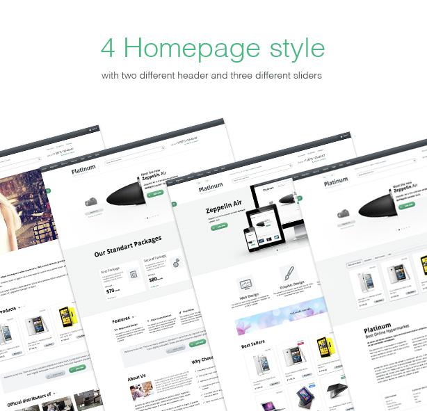 4 Homepage styles
