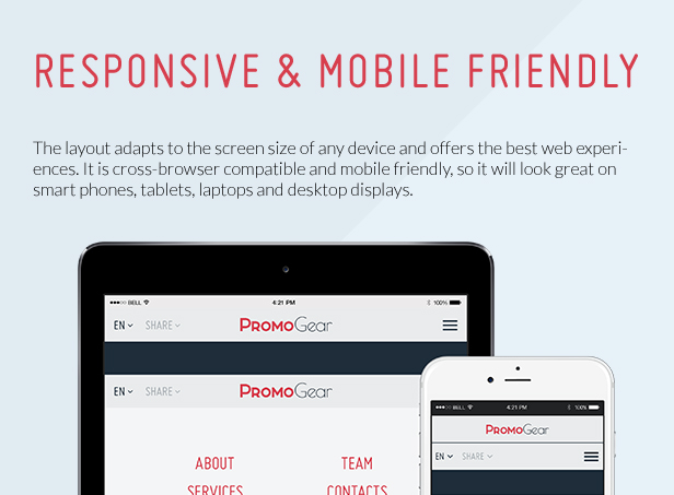 Responsive and mobile friendly